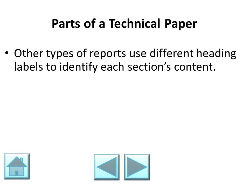 Parts of a Technical Paper