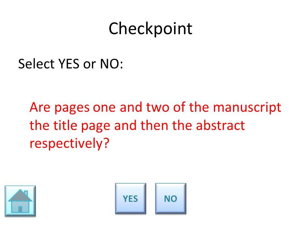apa manuscript format