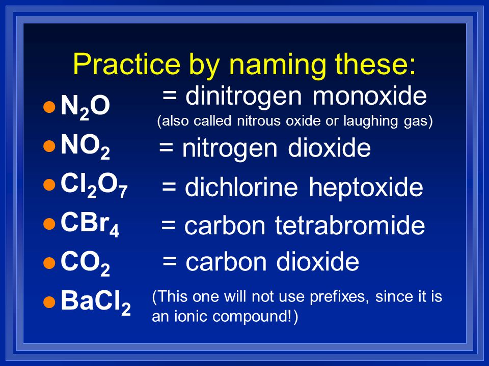 Practice by naming these: