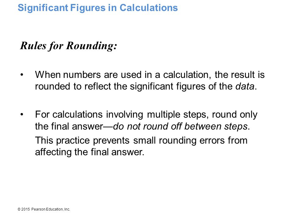 Rules for Rounding: Significant Figures in Calculations
