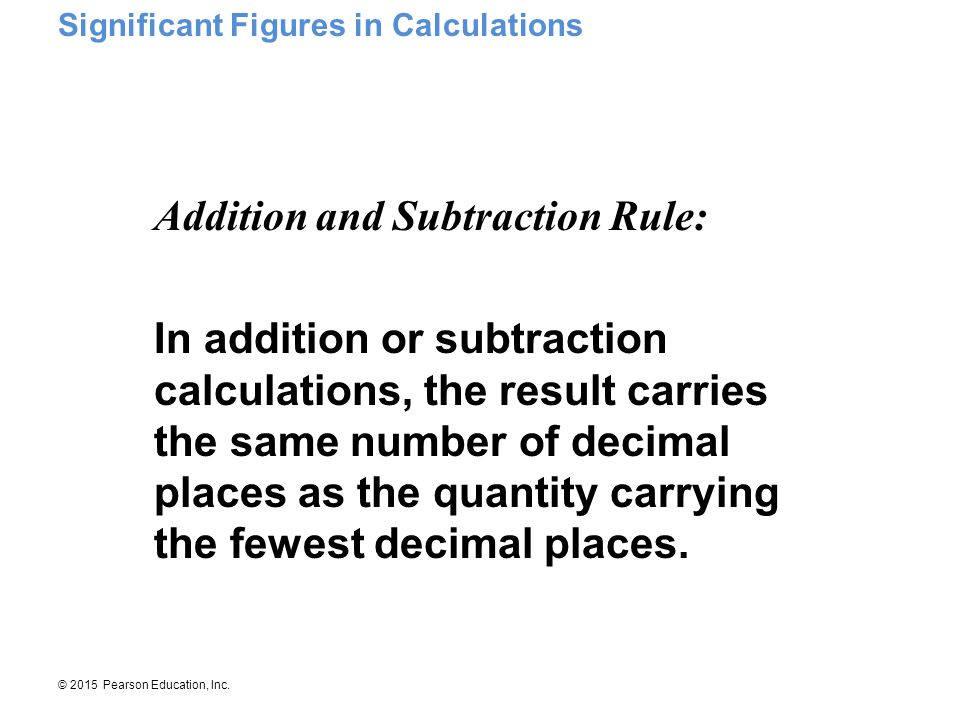 Addition and Subtraction Rule: