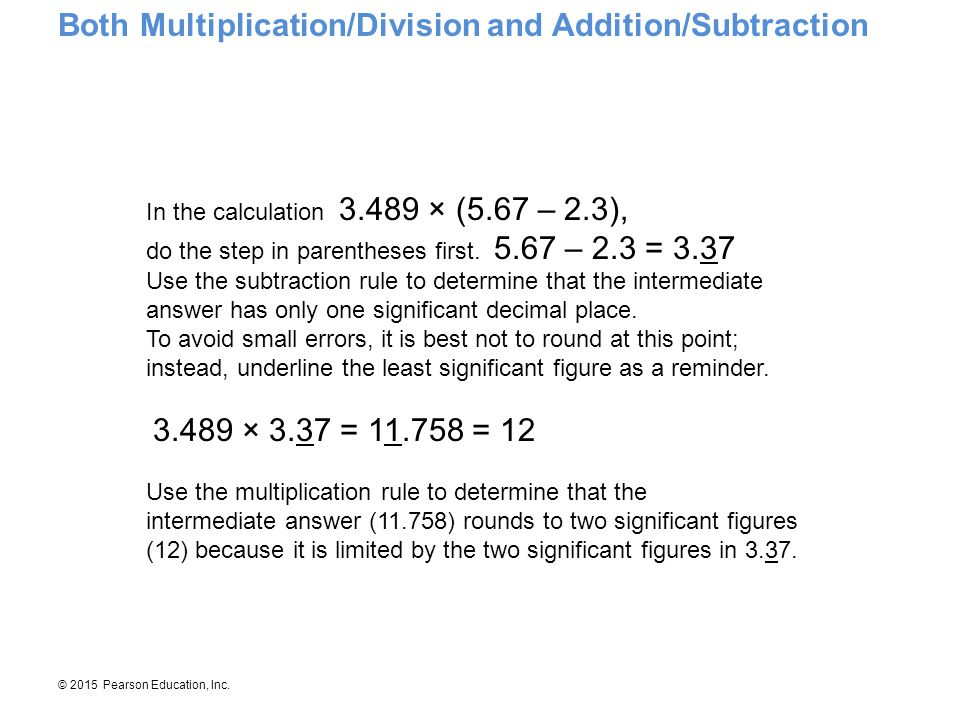 Both Multiplication/Division and Addition/Subtraction