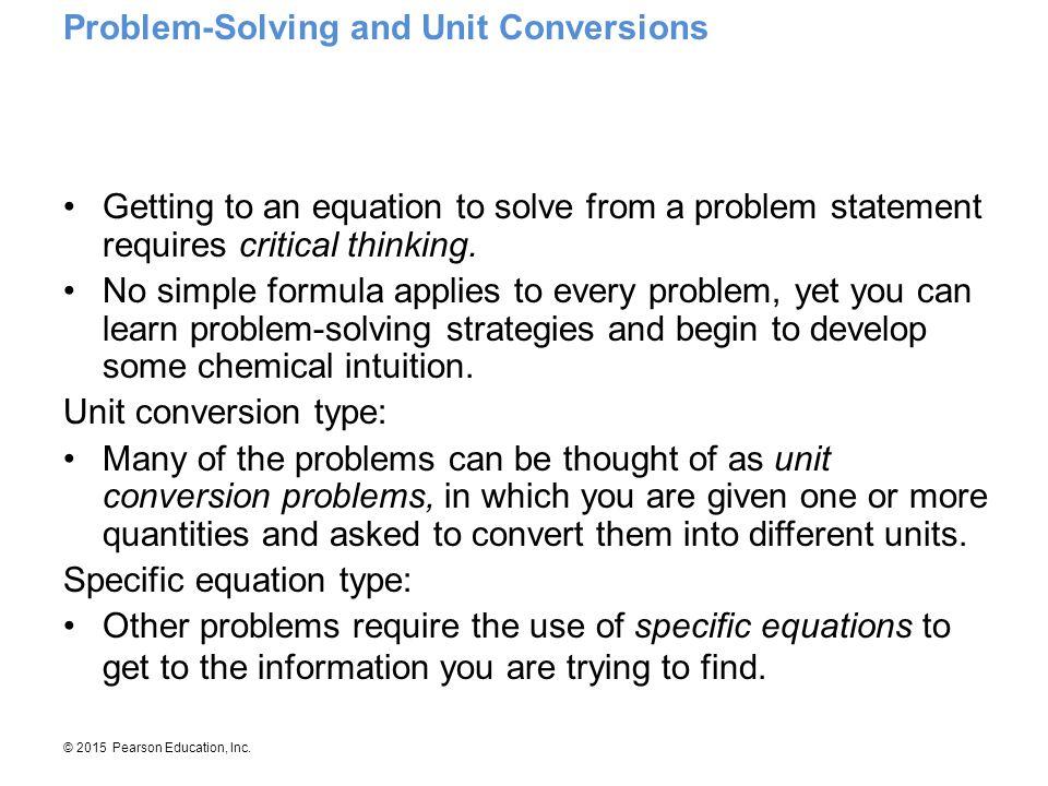 Problem-Solving and Unit Conversions