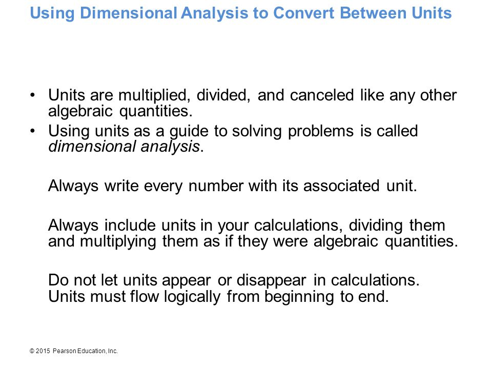 Using Dimensional Analysis to Convert Between Units