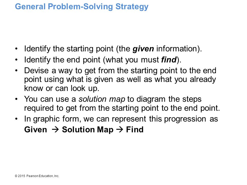 General Problem-Solving Strategy