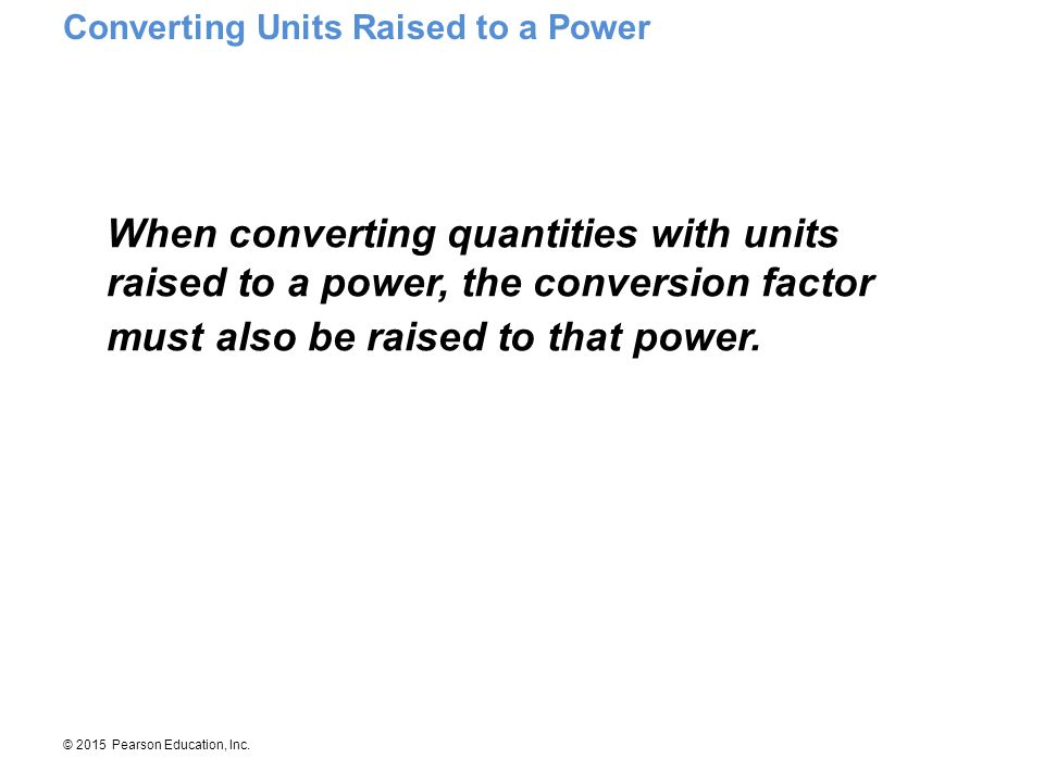 Converting Units Raised to a Power