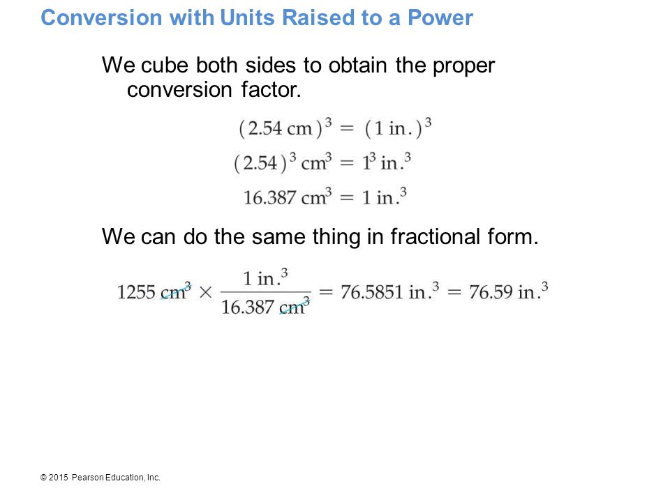Conversion with Units Raised to a Power