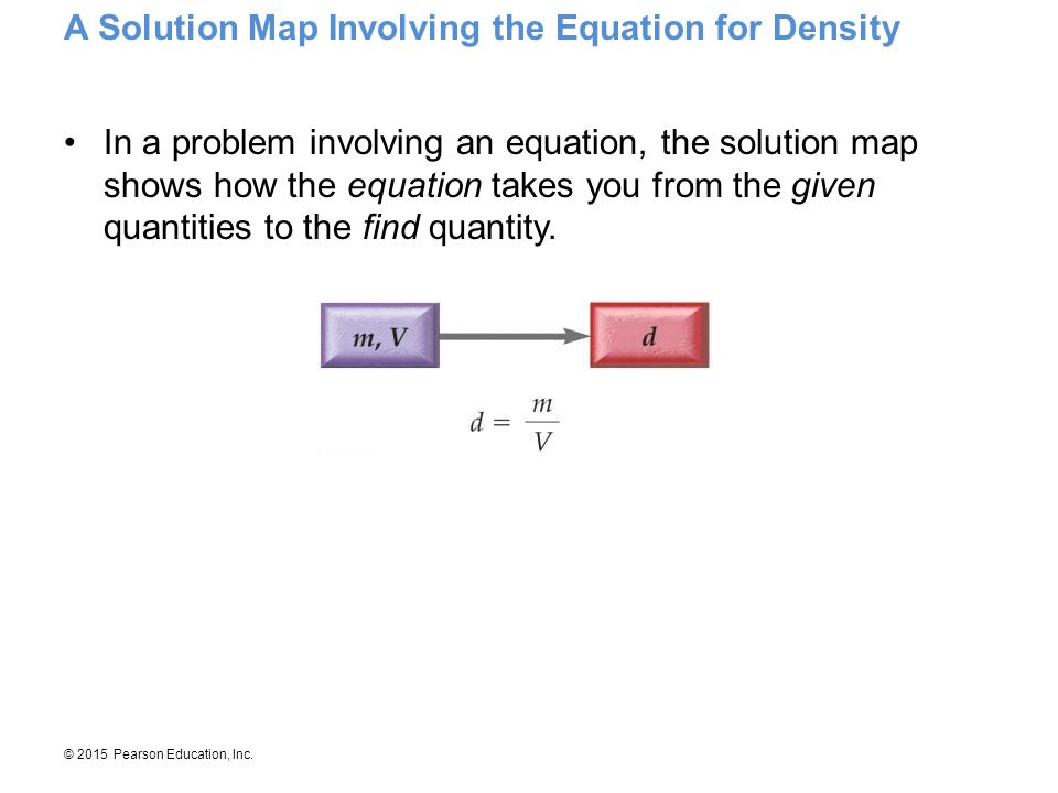 A Solution Map Involving the Equation for Density