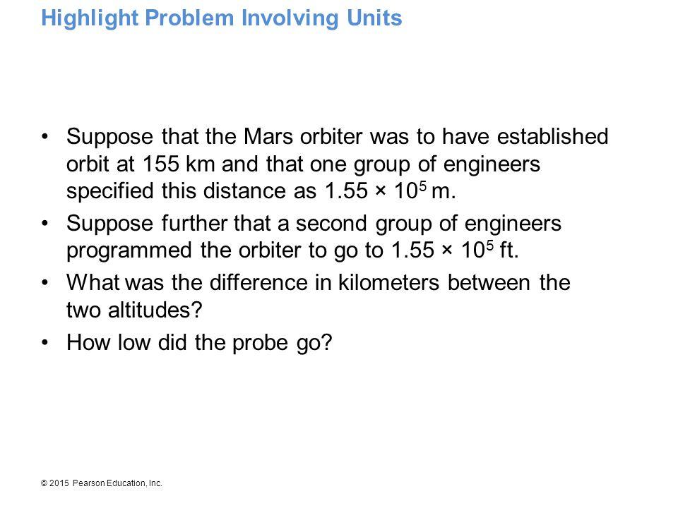 Highlight Problem Involving Units