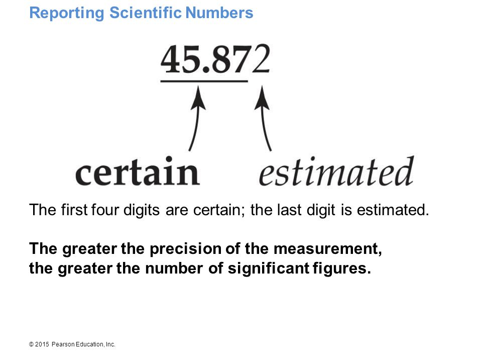 Reporting Scientific Numbers