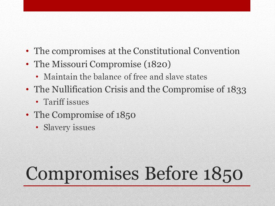 The compromises at the Constitutional Convention