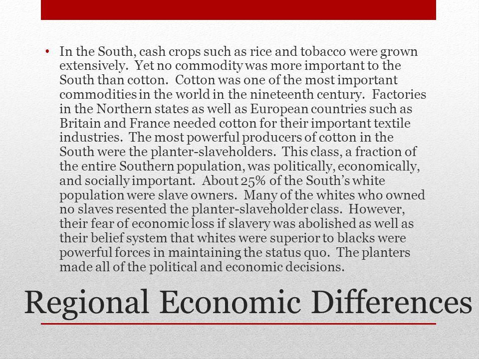 Regional Economic Differences