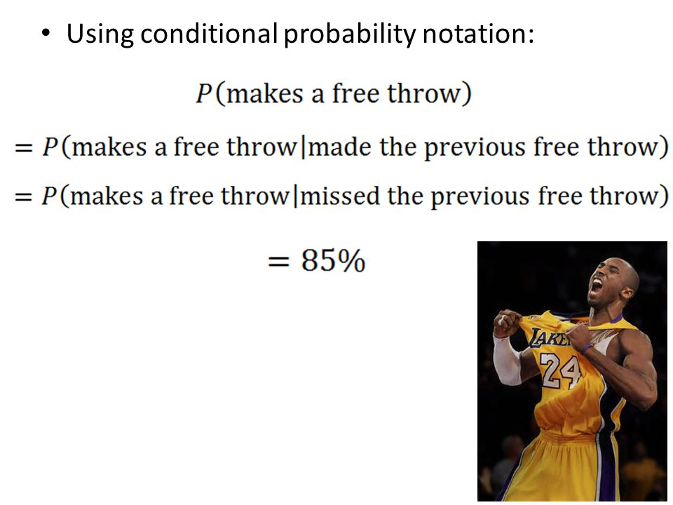 Using conditional probability notation: