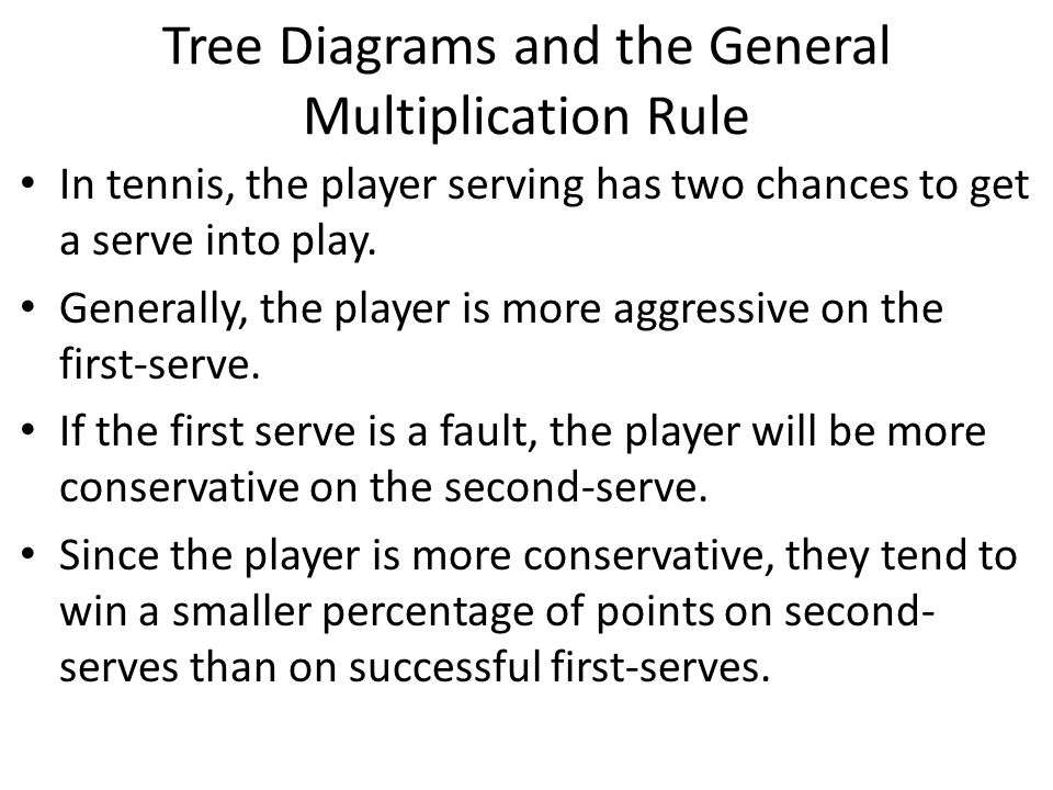 Tree Diagrams and the General Multiplication Rule
