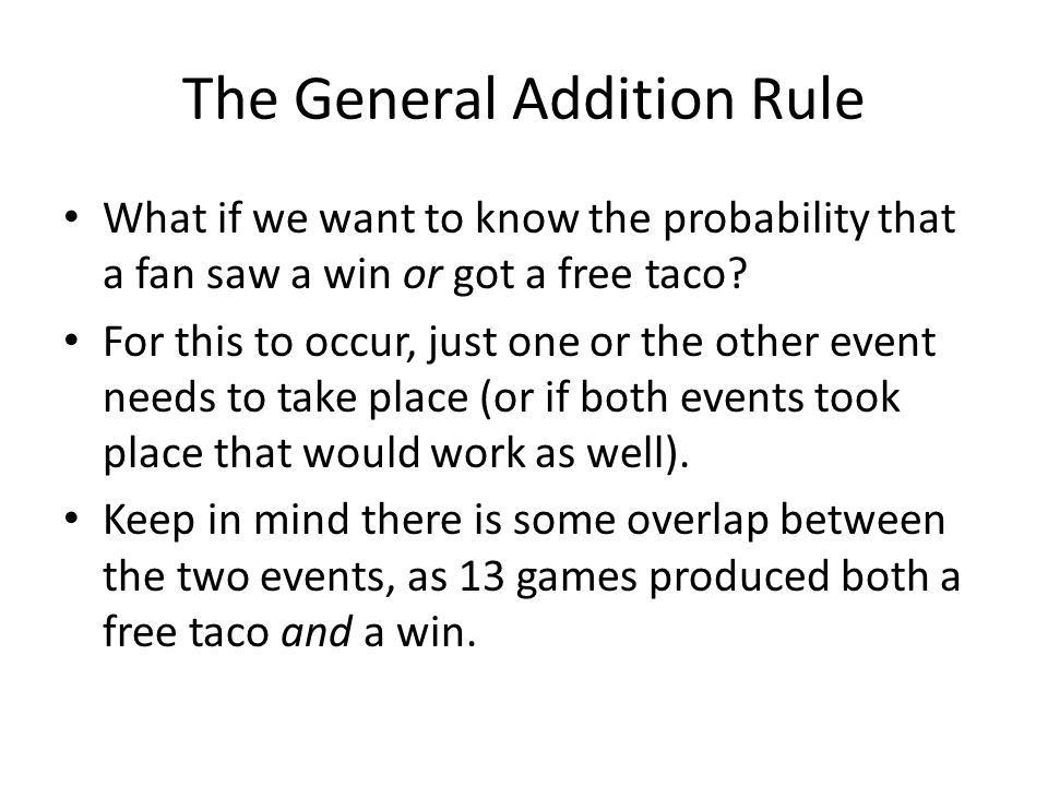 The General Addition Rule
