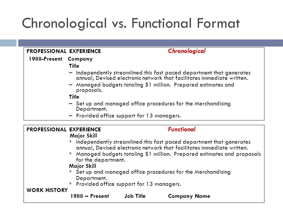 Wonderful 23 Chronological Vs. Functional Format  Chronological Resume Vs Functional Resume