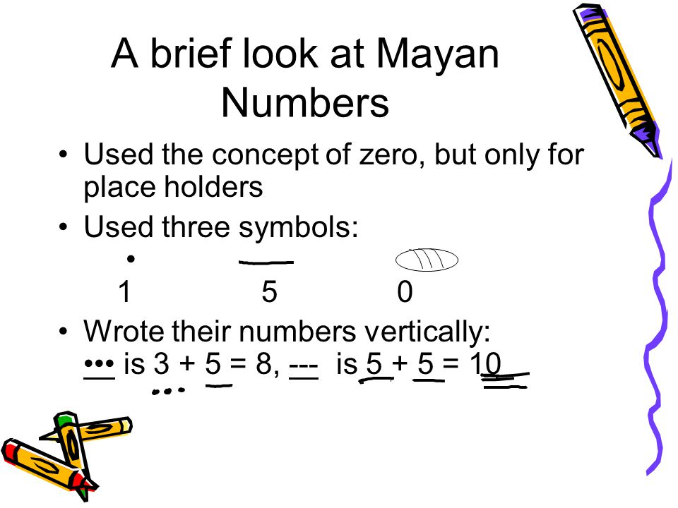 A brief look at Mayan Numbers