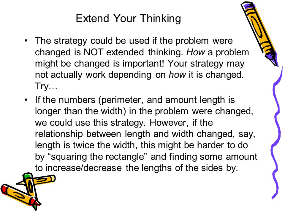 Extend Your Thinking