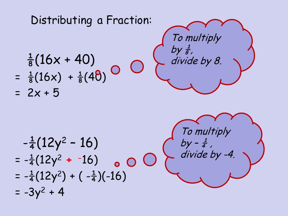 Distributing a Fraction: