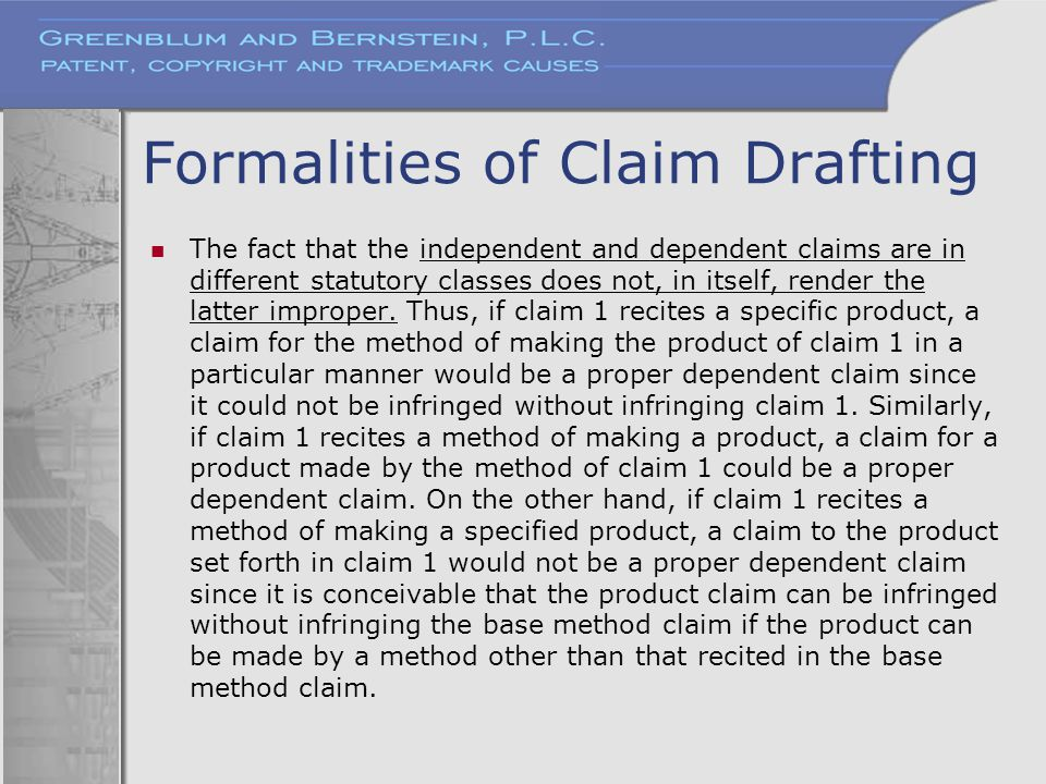 Formalities of Claim Drafting