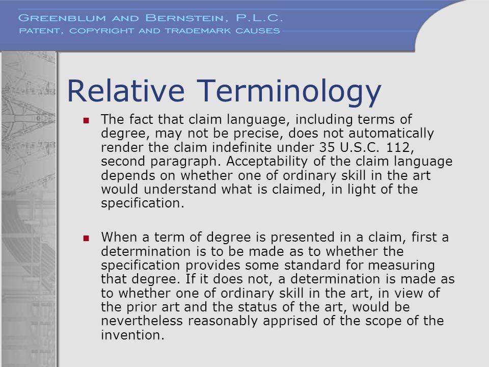 Relative Terminology