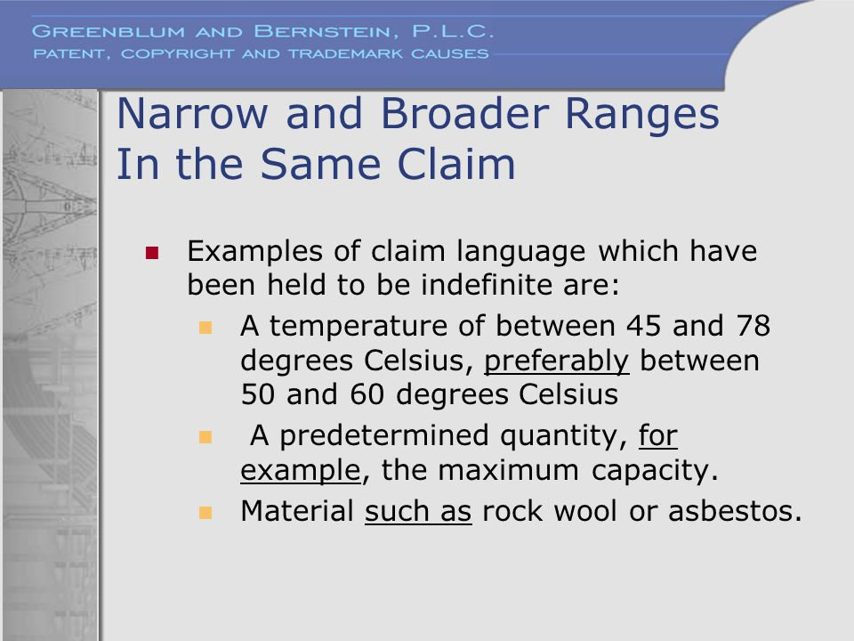 Narrow and Broader Ranges In the Same Claim