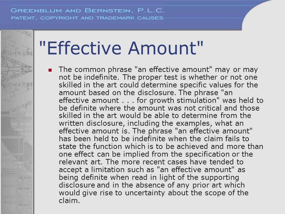 Effective Amount