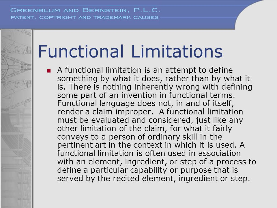 Functional Limitations