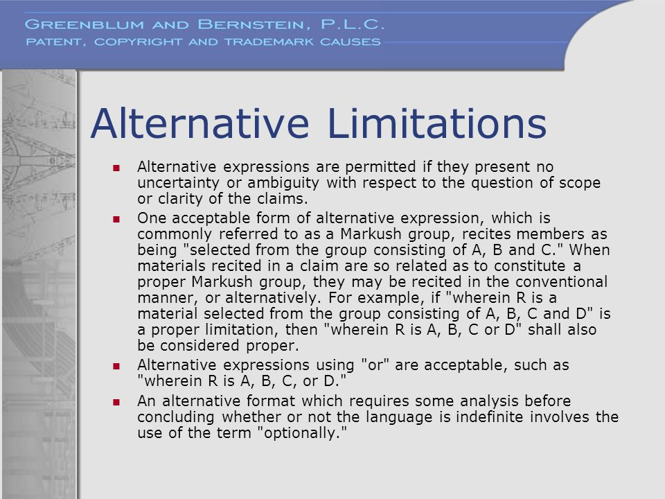 Alternative Limitations
