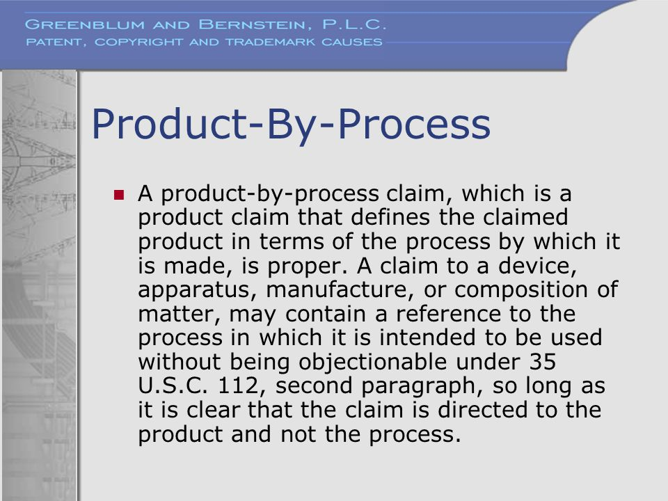 Product-By-Process