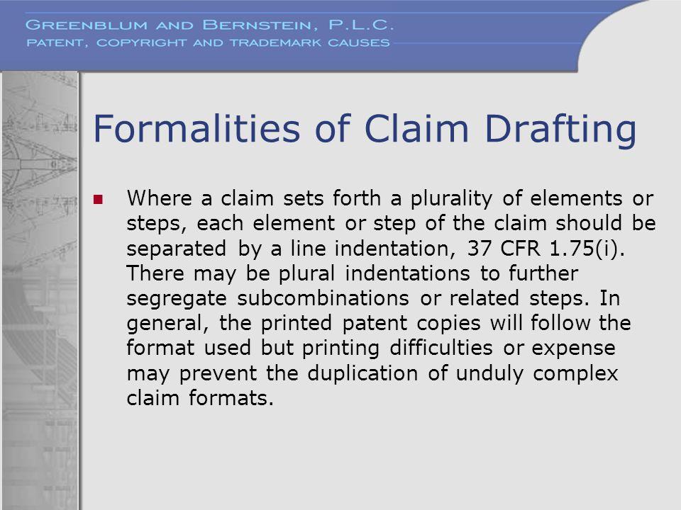 Formalities of Claim Drafting