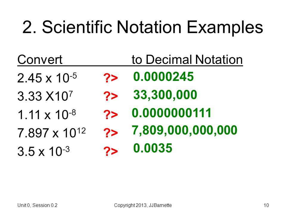 2. Scientific Notation Examples