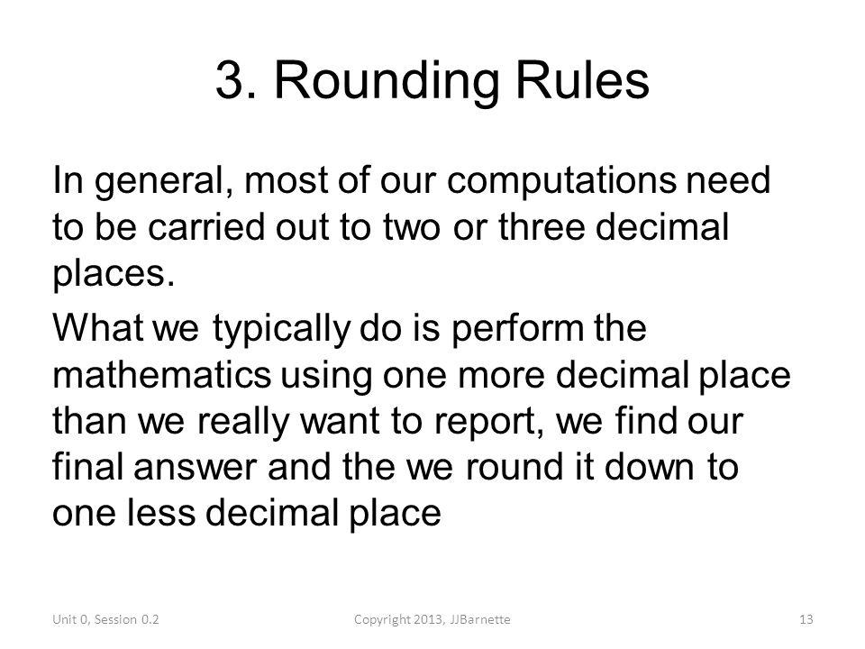 3. Rounding Rules