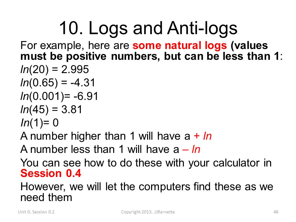 how to find natural log without calculator