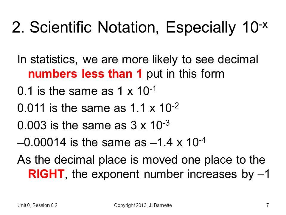 2. Scientific Notation, Especially 10-x