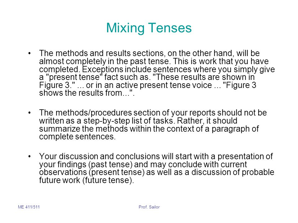 Mixing Tenses