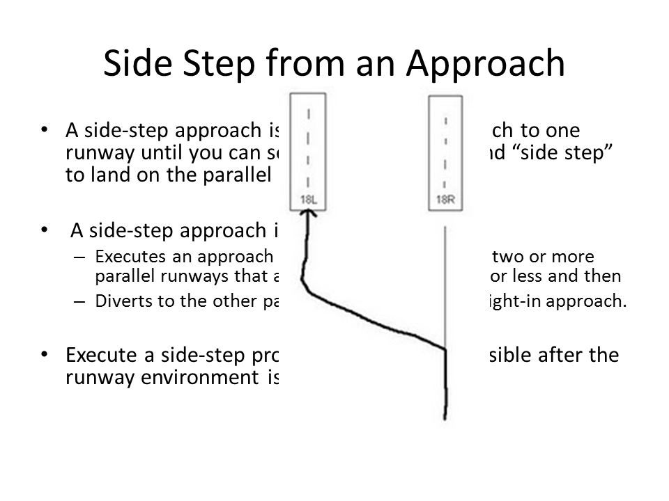 Side Step from an Approach