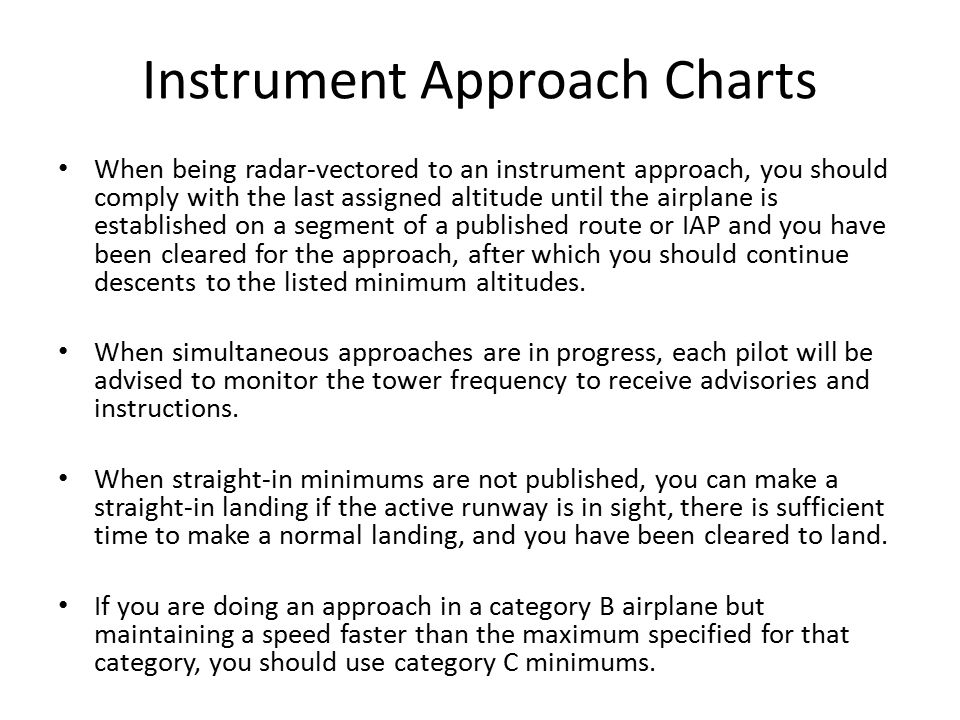 Instrument Approach Charts