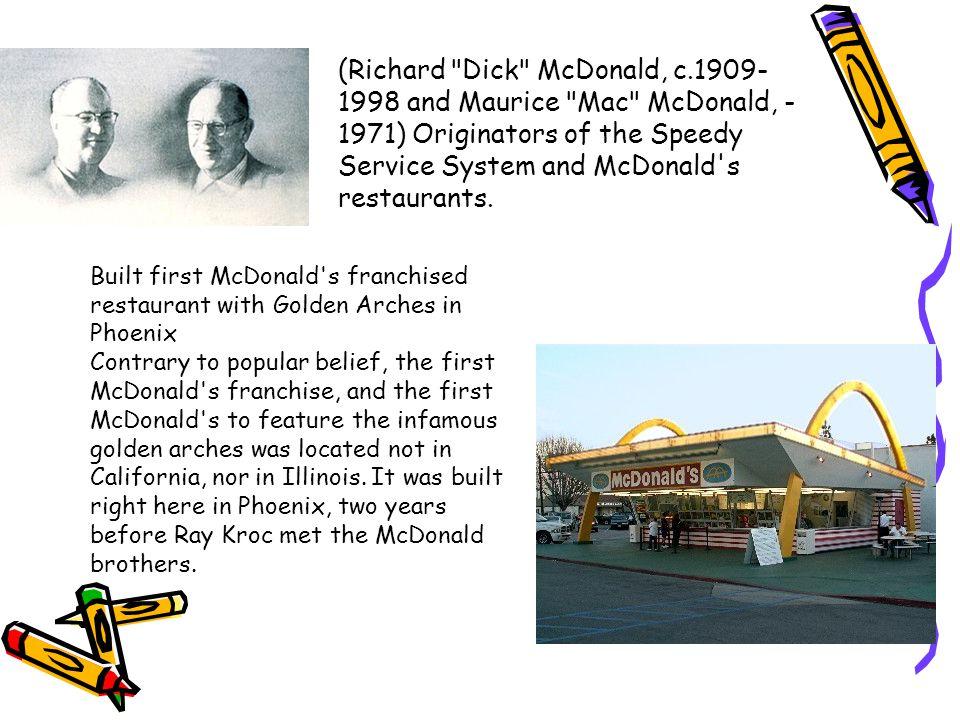 (Richard Dick McDonald, c