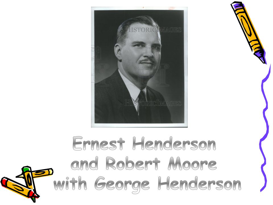 Ernest Henderson and Robert Moore with George Henderson