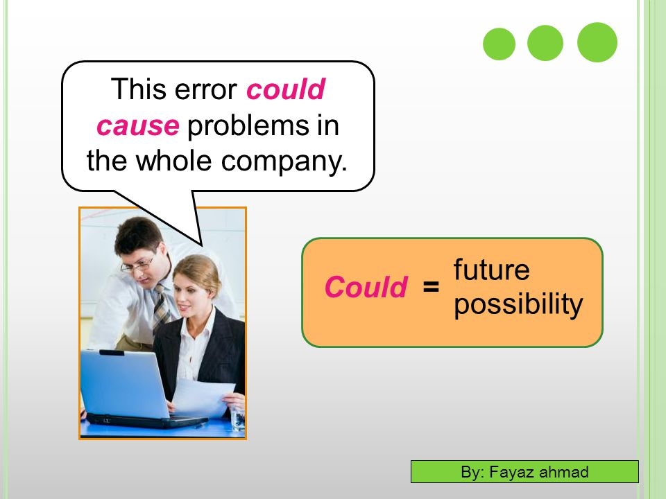 This error could cause problems in the whole company.