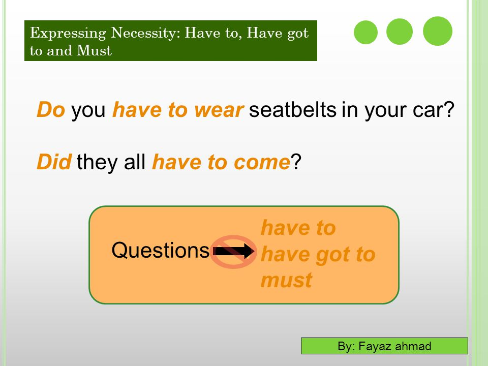 Do you have to wear seatbelts in your car Did they all have to come