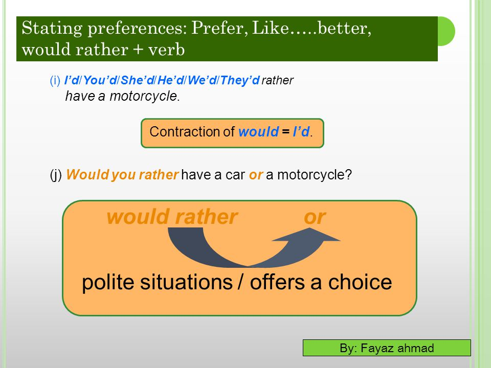 polite situations / offers a choice