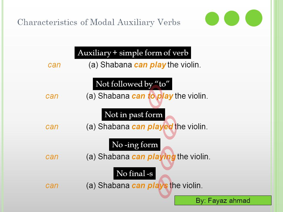 Characteristics of Modal Auxiliary Verbs
