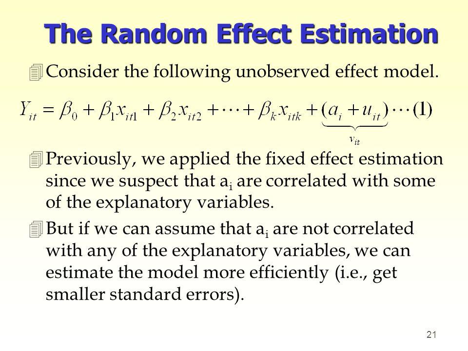 The Random Effect Estimation