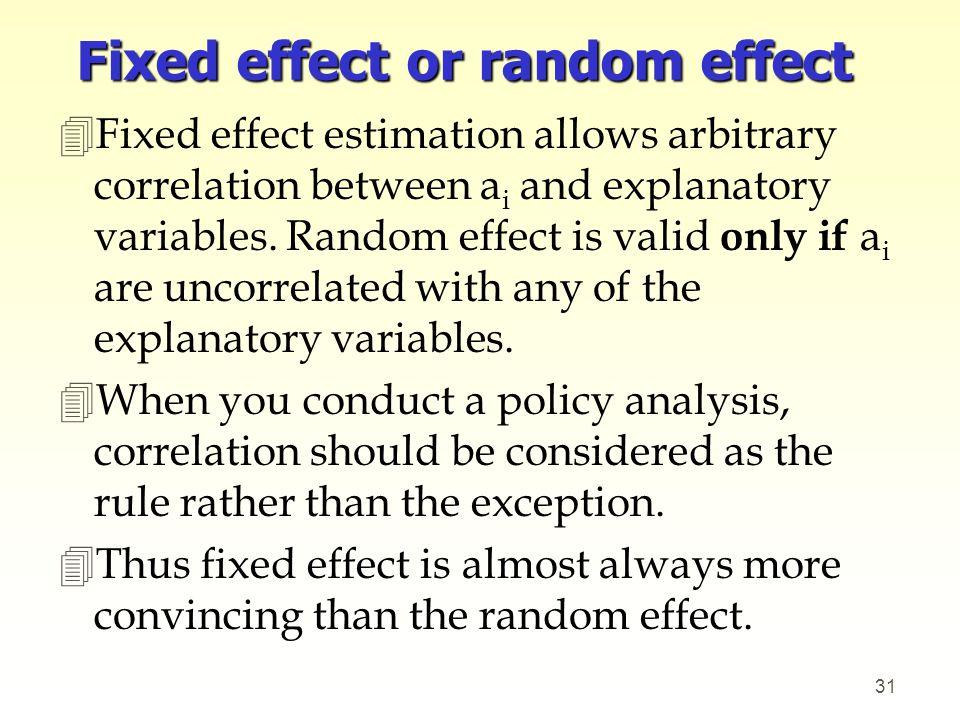 Fixed effect or random effect