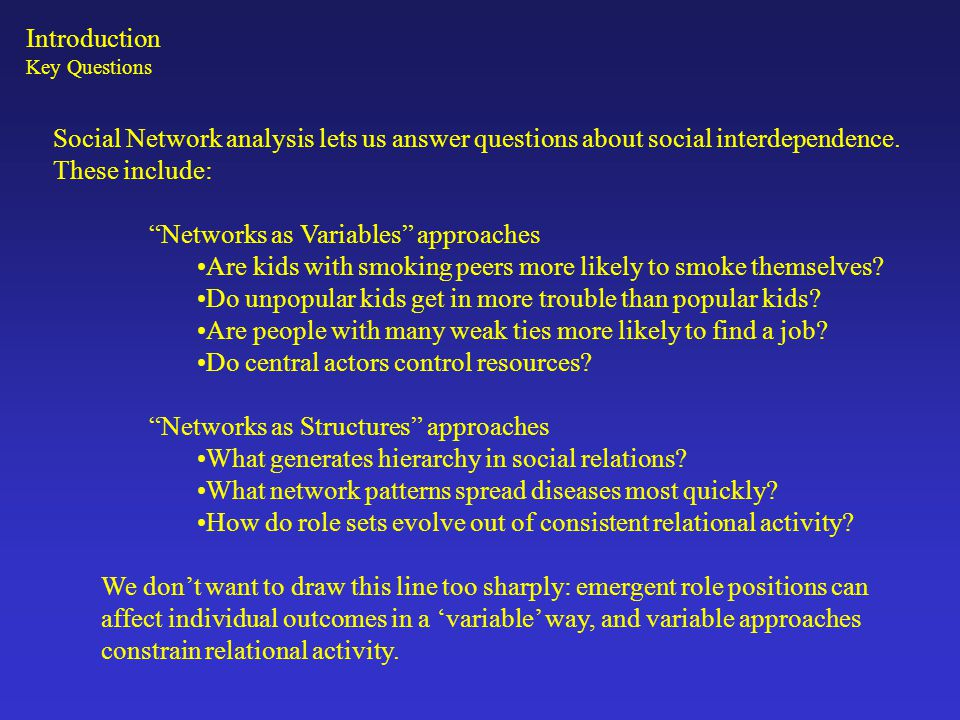 Networks as Variables approaches
