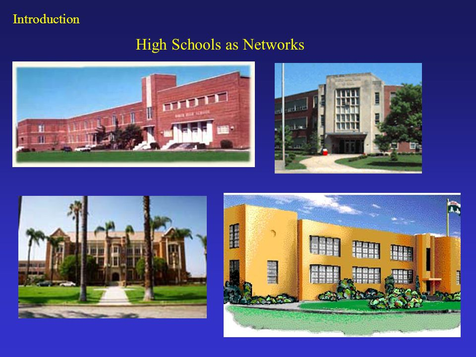 High Schools as Networks