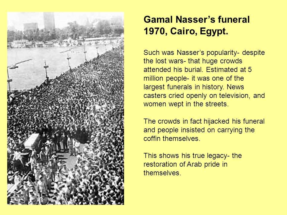 Gamal Nasser's funeral 1970, Cairo, Egypt.