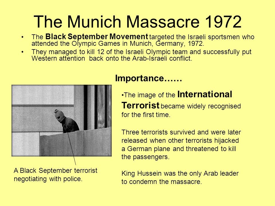 The Munich Massacre 1972 Importance……